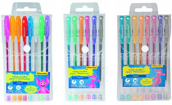 Цветные гелевые ручки Silwerhof