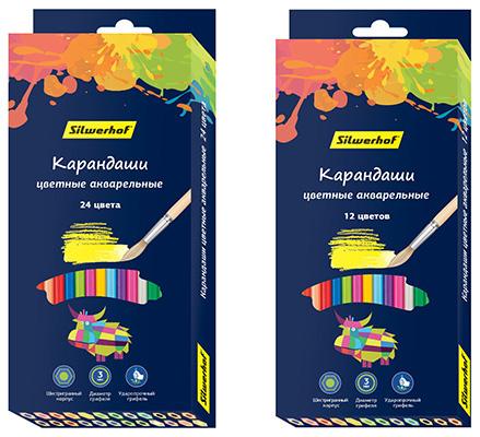 новая коллекция цветных акварельных карандашей Silwerhof «Цветландия»