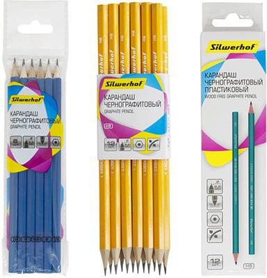 Чернографитные карандаши Silwerhof в новом дизайне
